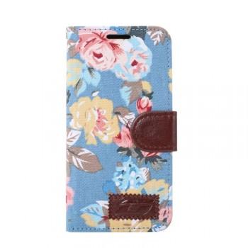 Дизайнерский чехол подставка с полноповерхностным принтом и застежкой с отделением для карт для Samsung Galaxy S7