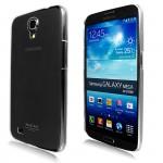 Пластиковый транспарентный олеофобный премиум чехол для Samsung Galaxy Mega 6.3