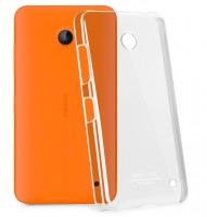 Пластиковый транспарентный олеофобный премиум чехол для Nokia Lumia 630