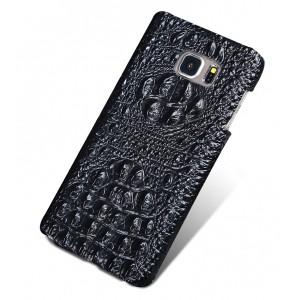 Кожаный чехол накладка (нат. кожа крокодила) для Samsung Galaxy S7