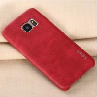 Кожаная винтажная накладка для Samsung Galaxy S7 Красный