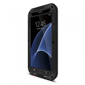 Эксклюзивный многомодульный ультрапротекторный пылевлагозащищенный ударостойкий чехол алюминиевый сплав/силиконовый полимер с закаленным защитным стеклом для Samsung Galaxy S7