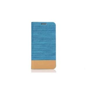 Текстурный чехол подставка на силиконовой основе с отделением для карты для Samsung Galaxy S7 Голубой
