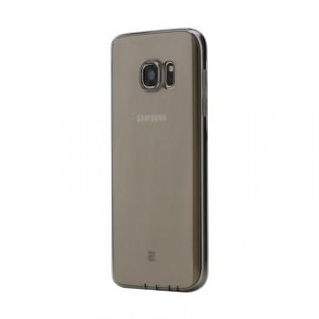 Силиконовый матовый полупрозрачный чехол с допзащитой камеры для Samsung Galaxy S7