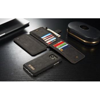Винтажный многофункциональный чехол портмоне/органайзер подставка с защелкой для Samsung Galaxy S7