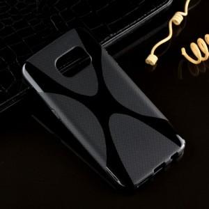 Силиконовый X чехол для Samsung Galaxy S7 Черный