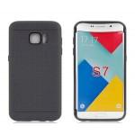 Силиконовый матовый непрозрачный чехол текстура Точки для Samsung Galaxy S7