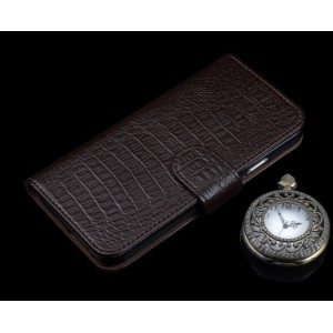 Кожаный чехол портмоне (нат. кожа крокодила) с магнитной защелкой для Samsung Galaxy S7