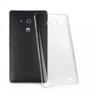 Пластиковый транспарентный олеофобный премиум чехол для Huawei Ascend Mate