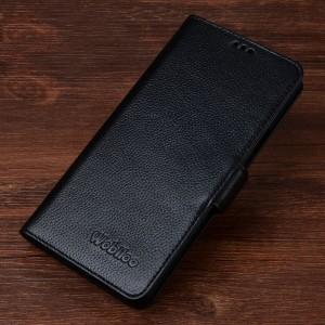 Кожаный чехол портмоне горизонтальная книжка (нат. кожа) с крепежной застежкой для Samsung Galaxy S7