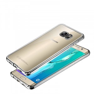 Силиконовый матовый полупрозрачный чехол текстура Металлик для Samsung Galaxy S7 Белый