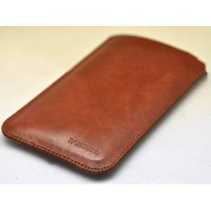 Кожаный вощеный мешок для Samsung Galaxy S7 Коричневый
