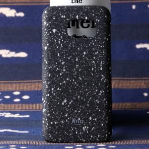 Пластиковый матовый дизайнерский чехол с голографическим принтом Звезды для Samsung Galaxy S7 Edge Белый