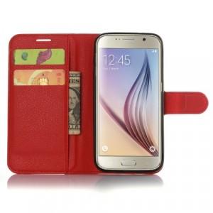Чехол портмоне подставка с защелкой для Samsung Galaxy S7 Edge Красный