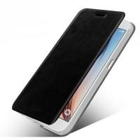 Чехол флип подставка водоотталкивающий для Samsung Galaxy S7 Edge Черный