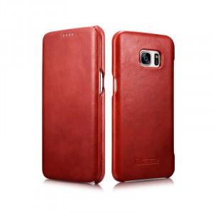 Кожаный чехол горизонтальная книжка на пластиковой основе для Samsung Galaxy S7 Edge