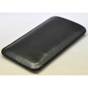 Кожаный вощеный мешок для Samsung Galaxy S7 Edge Черный