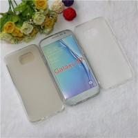 Силиконовый матовый полупрозрачный чехол для Samsung Galaxy S7 Edge Белый