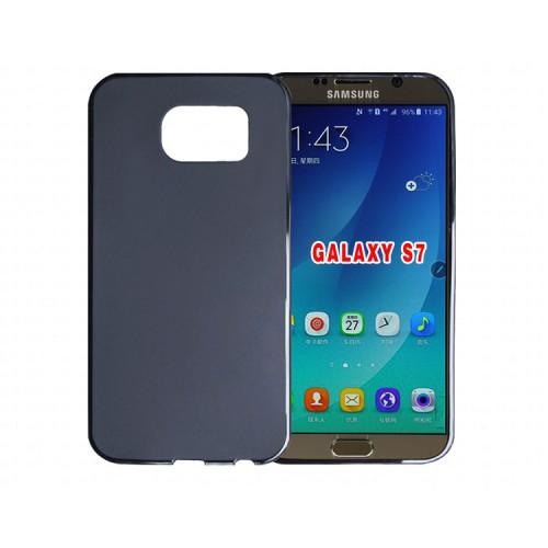 Силиконовый матовый полупрозрачный чехол для Samsung Galaxy S7 Edge Серый
