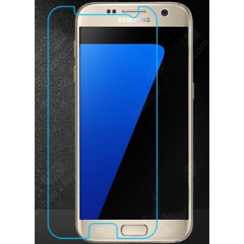 Ультратонкое износоустойчивое сколостойкое олеофобное защитное стекло-пленка на плоскую часть экрана для Samsung Galaxy S7 Edge