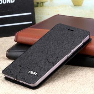 Чехол флип подставка на силиконовой основе текстура Соты для Xiaomi RedMi 3 Черный
