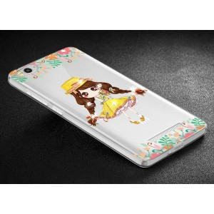 Дизайнерский силиконовый полупрозрачный чехол с принтом для Xiaomi RedMi 3