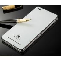 Гибридный двухкомпонентный чехол с металлическим бампером и закаленной стеклянной накладкой для Xiaomi RedMi 3