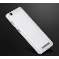 Силиконовый матовый непрозрачный чехол для Xiaomi RedMi 3 Белый