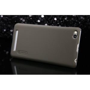 Пластиковый матовый нескользящий премиум чехол для Xiaomi RedMi 3 Коричневый