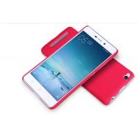 Пластиковый матовый нескользящий премиум чехол для Xiaomi RedMi 3 Красный