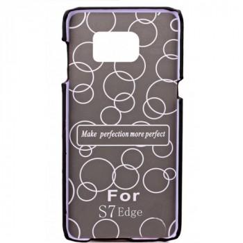 Чехол накладка с отделением для карты текстура Кожа для Samsung Galaxy S7 Edge Коричневый
