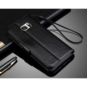 Глянцевый чехол портмоне подставка с защелкой для Samsung Galaxy S7 Edge