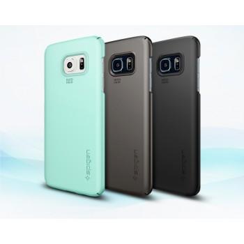 Пластиковый матовый непрозрачный ультратонкий чехол для Samsung Galaxy S7 Edge