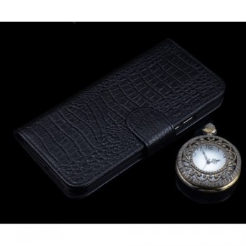 Кожаный чехол портмоне (нат. кожа крокодила) для Samsung Galaxy S7 Edge
