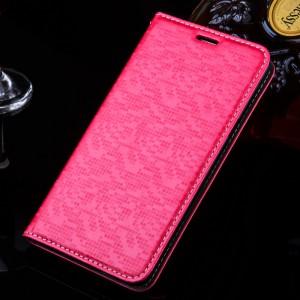 Текстурный чехол горизонтальная книжка подставка с отделением для карт для Xiaomi RedMi 3 Пурпурный