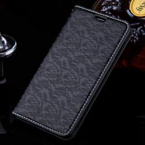 Текстурный чехол горизонтальная книжка подставка с отделением для карт для Xiaomi RedMi 3 Черный