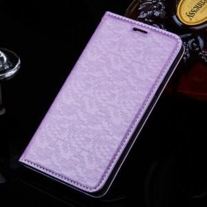 Текстурный чехол горизонтальная книжка подставка с отделением для карт для Xiaomi RedMi 3 Фиолетовый