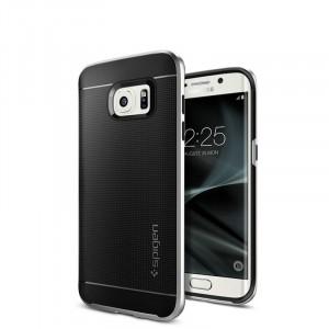 Антиударный гибридный силиконовый премиум чехол для Samsung Galaxy S7 Edge Белый
