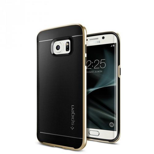 Антиударный гибридный силиконовый премиум чехол с поликарбонатной крышкой для Samsung Galaxy S7 Edge