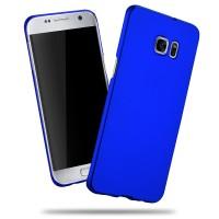 Пластиковый матовый непрозрачный чехол с улучшенной защитой корпуса для Samsung Galaxy S7 Edge Синий