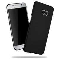 Пластиковый матовый непрозрачный чехол с улучшенной защитой корпуса для Samsung Galaxy S7 Edge Черный
