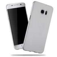 Пластиковый матовый непрозрачный чехол с улучшенной защитой корпуса для Samsung Galaxy S7 Edge Белый