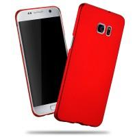Пластиковый матовый непрозрачный чехол с улучшенной защитой корпуса для Samsung Galaxy S7 Edge Красный