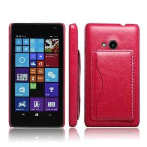 Дизайнерский чехол накладка с отделениями для карт и подставкой для Microsoft Lumia 535