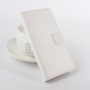Глянцевый чехол портмоне подставка на силиконовой основе с отделением для карт для Lenovo Moto G Белый