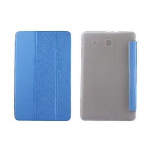 Текстурный чехол флип подставка сегментарный на пластиковой полупрозрачной основе для Samsung Galaxy Tab E 9.6