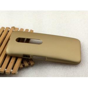 Пластиковый матовый непрозрачный Металлик чехол для Lenovo Moto G
