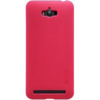 Пластиковый матовый нескользящий премиум чехол для ASUS ZenFone Max Красный