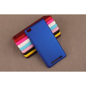 Пластиковый матовый непрозрачный чехол для Xiaomi RedMi 3 Синий