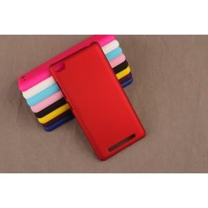 Пластиковый матовый непрозрачный чехол для Xiaomi RedMi 3 Красный